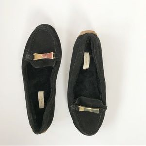 """Kate space """"Peso"""" black suede loafer size 8.5"""